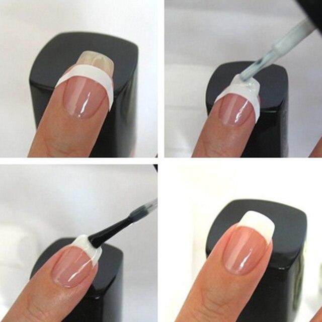 Shellhard 240 stücke/5 Blatt Nägel Guide Tipps Aufkleber Französisch Maniküre Puder-nagel-kunst-aufkleber-nagel-kunst-abziehbild Für DIY Styling Werkzeuge