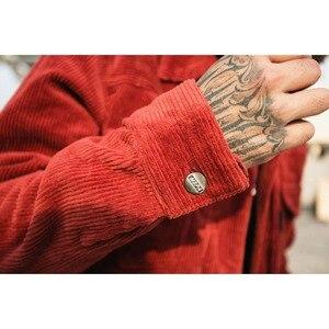 Image 4 - رجل بلون سروال قصير سترة 2018 الخريف والشتاء عالية الشارع المد الذكور BF الرجعية غسل متعددة جيب فضفاض جاكيتات الملابس