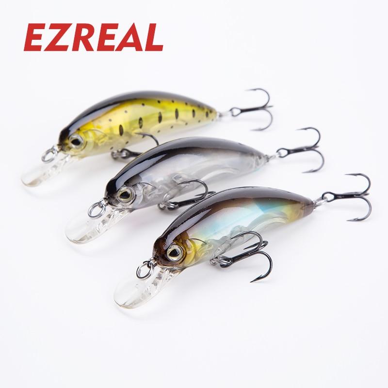 Ezreal SW65 Crankbait floating Fishing Lures with 6# VMC Hooks 65mm 1PC 9g Wobbler minnow Artificial Hard Bait swimbait aqua spirit minnow 65mm цвет hc02 floating