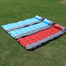 Outdoor tent pad camping sleeping widened and thickened automatic punching air cushion beach bed can be spliced