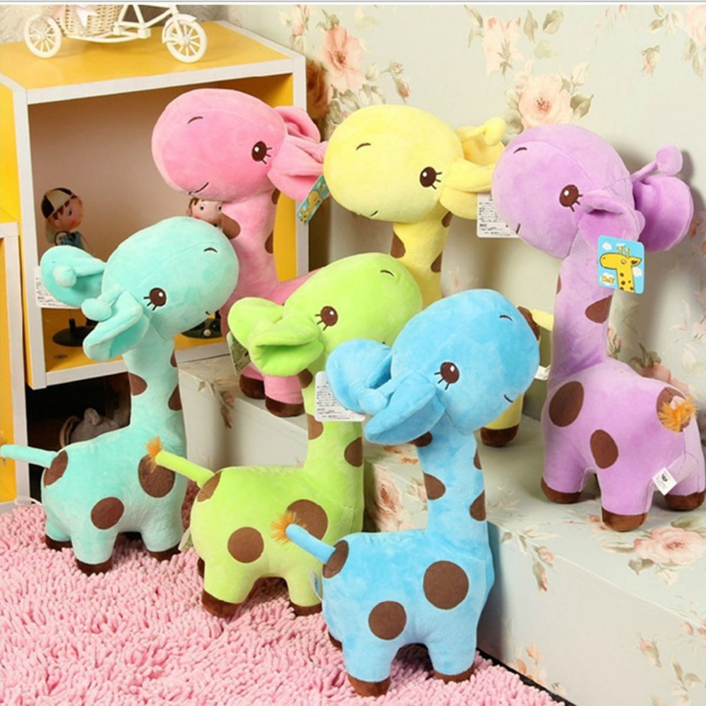 Giraffe Plush Toys 1PCS 18cm Cute Baby Toys Rainbow Dolls For Kids gifts Cute Plush Soft Animal Children Birthday funny stuffed  baby toys