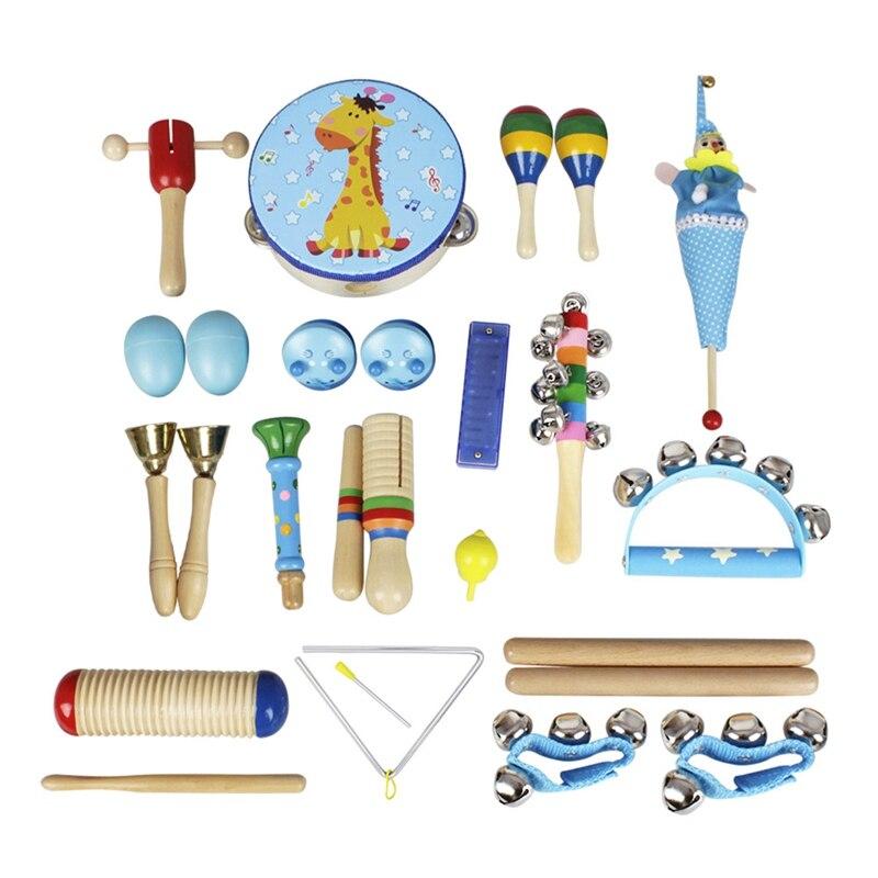 22 pièces/ensemble bébé Instruments de musique ensemble enfants garçons filles début jouets éducatifs enfants bébé éducation jouets ensemble