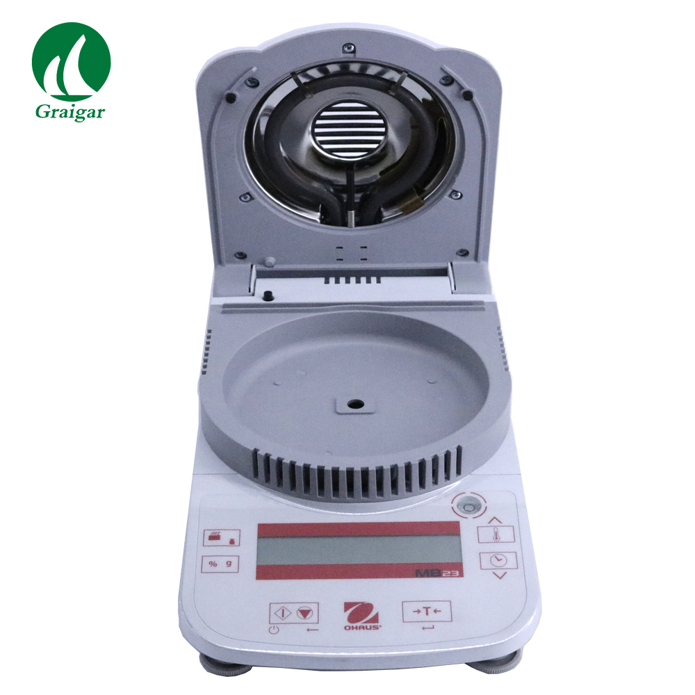 Ohaus Профессиональный влагоанализатор зерна MB23 использует Стекло Бесплатная инфракрасный нагреватель Системы 0,01g читаемость 110g диапазон