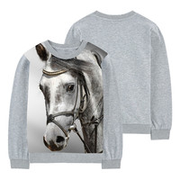New Arrival 3d Printed T Shirts Boys 2017 Fashion Horse Style Boy Top Tees Round Neck