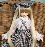 D01 P054 children handmade toy 1/3 1/4 Doll Accessories BJD/SD doll clothes Pastoral style skirt 1pcs