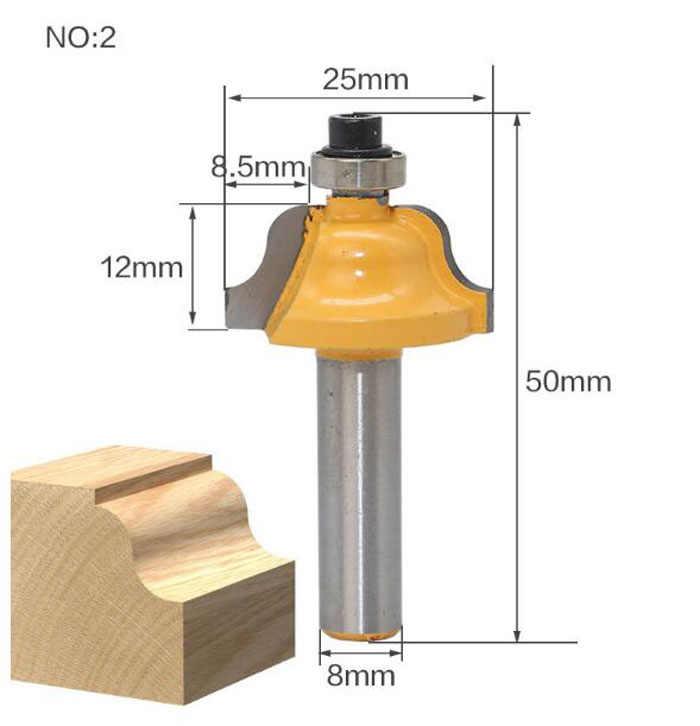 1 sztuk 8mm Shank T-Slot frez prosto koniec frez trymer do czyszczenia Flush drewna Router Bit do obróbki drewna narzędzia cena hurtowa