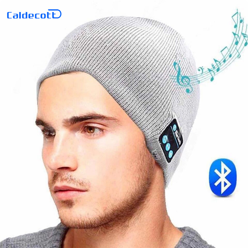 2017 New Soft Warm Beanie Gorro Hat Wireless Bluetooth Smart Cap Headset Headphone Speaker Mic Bluetooth Hat Men Sports Hat