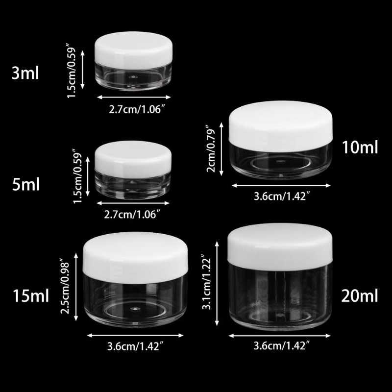 Mini örnek şişe Kozmetik Makyaj Kavanoz Pot yüz kremi kabı Seyahat Yararlı
