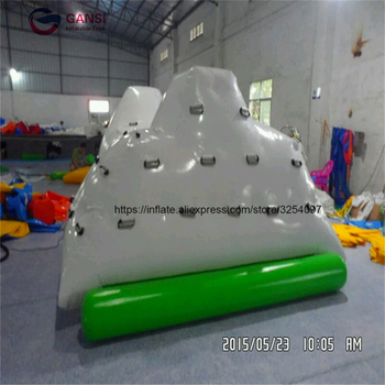 2018 Attractive water park floating inflatable climbing iceberg, ice hill for sport games