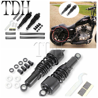Shock Absorbers Motorcycle Rear Suspension Black Front Rear Lowering Slammer Kit For Harley Sportster XL883 XL1200 1988 2003