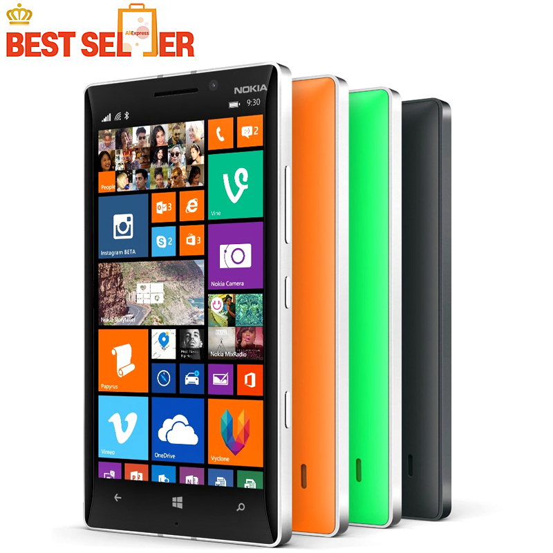 Цена за Оригинальный Nokia Lumia 930 сотовый телефон 20MP Камера LTE NFC Quad core 32 ГБ ROM 2 ГБ ОПЕРАТИВНОЙ ПАМЯТИ на складе