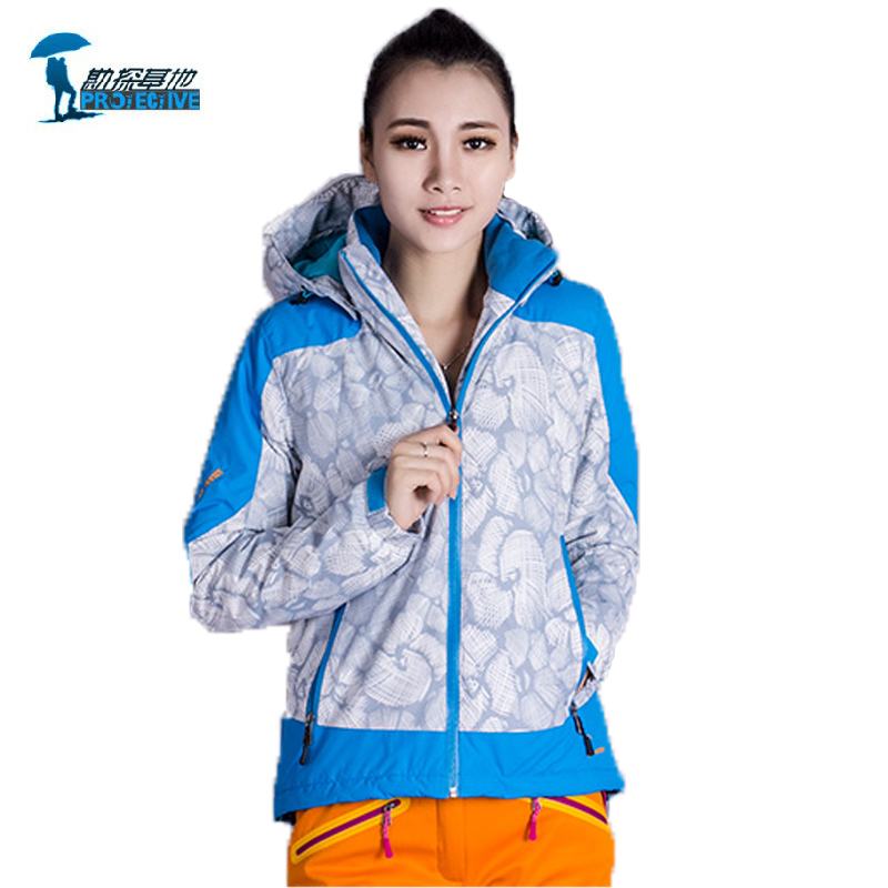 Protective Brand 2016 Outdoor Sports Ski Suit Women Thicken Winter Softshell Jacket Thermal Windstopper Skiing For