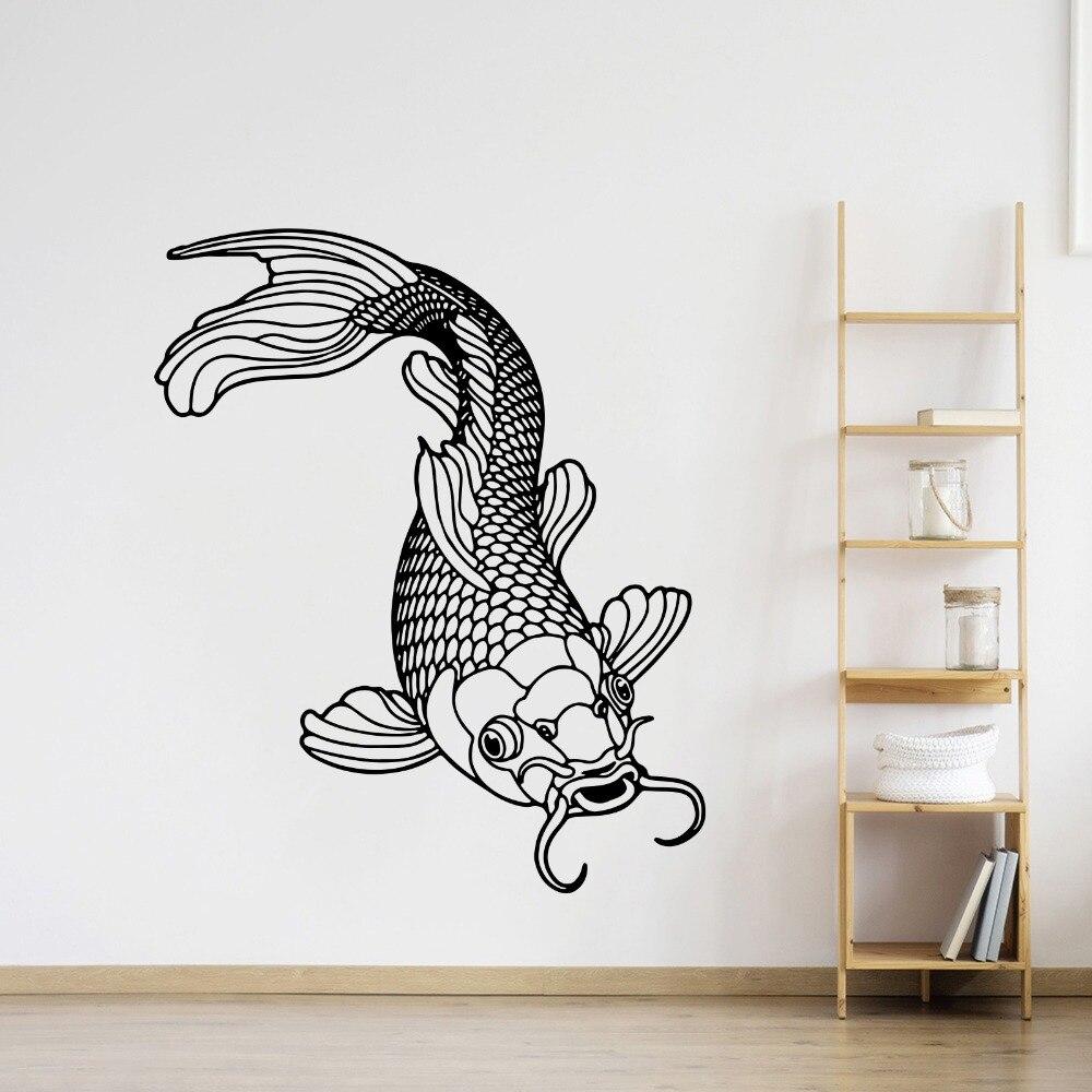 Fish Vinyl Decal Sticker Sea Bedroom wall Art Ocean Glass Car Window Bathroom