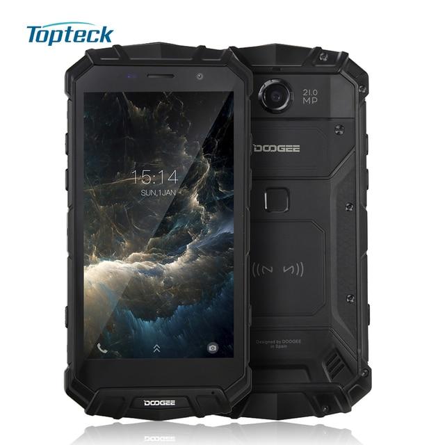"""Doogee S60 IP68 смартфон NFC 6 ГБ Оперативная память + 64 ГБ Встроенная память 21mp Камера 5580 мАч tri-доказательство 5.2 """"Octa core android 7.0 QI Беспроводной телефона"""