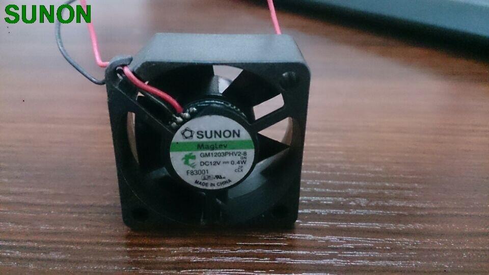 Original For Sunon 3015 12V 0.4W GM1203PHV2-8 2 Wire Cooling Fan