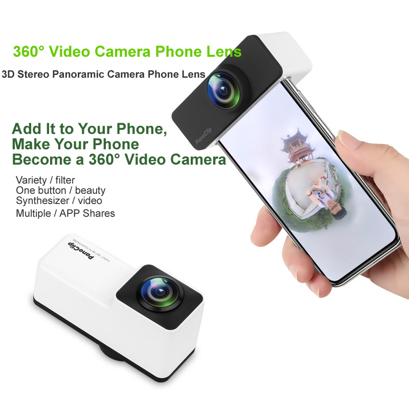 Life Magic Box Mobile Phone Panoramic 360 Degree Full View Video Camera Lens for IPhone X, IPhone7/8, IPhone7p/8p, and More 360 degrees
