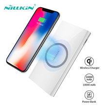 Power Bank Wireless Chargers Qi NILLKIN 10000 Mah Poverbank Portable Charger External Battery For Xiaomi iPhone Xr Xs