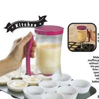 DIY Queque Bolo Panqueca Mistura de Creme Dispenser Funil copo De Medição Cozinha Bakeware Molde Acessório Ferramenta 900 ml
