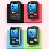 New Arrival Original RUIZU X50 Sport Bluetooth MP3 Player 8gb Clip Mini with Screen Support FM,Recording,E Book,Clock,Pedometer