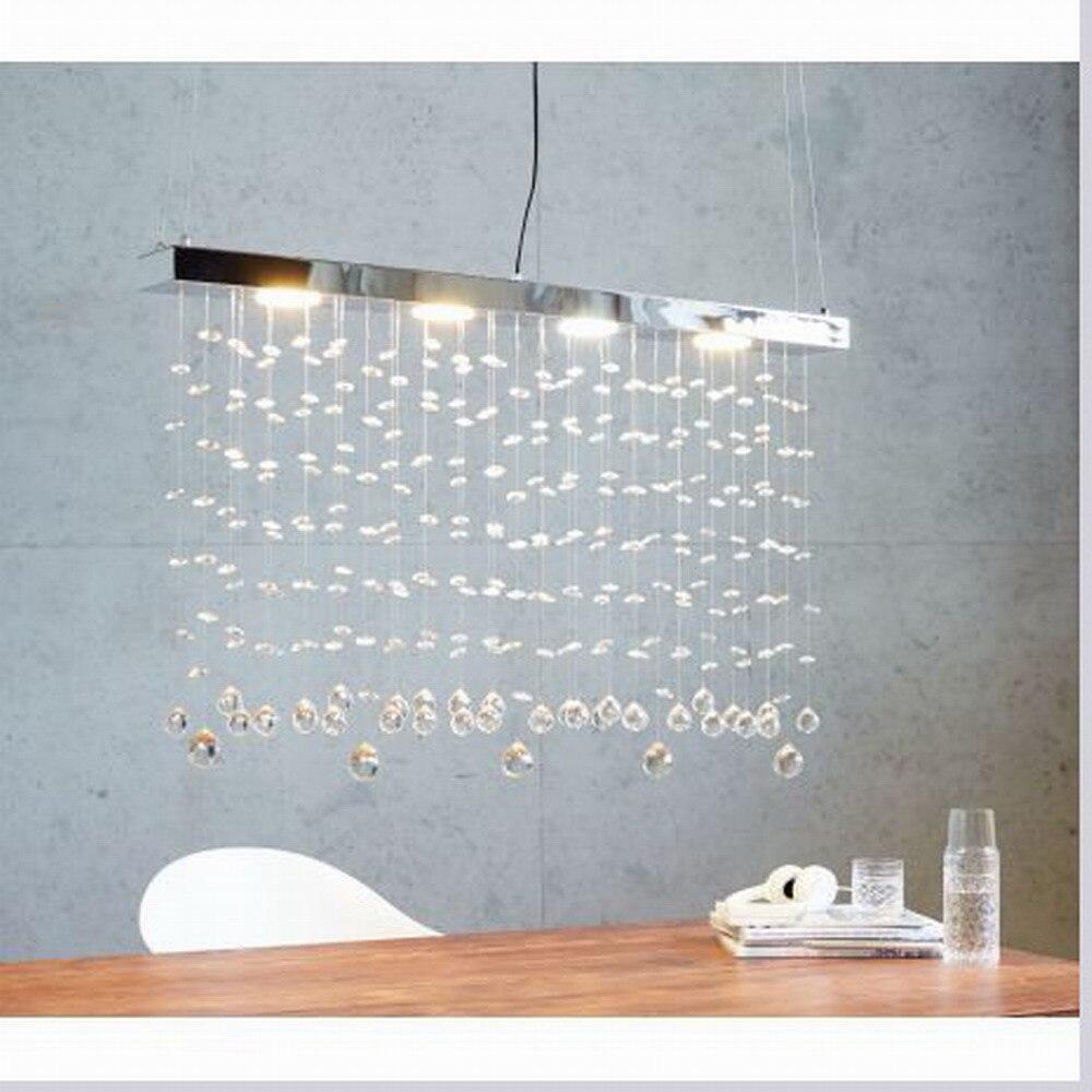 Nieuwe ontwerp moderne grote lustre lumiere k9 kristallen hanglamp gx53 led lamp chandelirs voor keuken lichten
