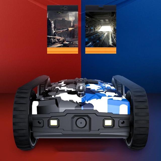 Mini Portable Drone RC Robot Tank 480P Camera Radio Remote Control Tanks LED Wireless Infrared Battle