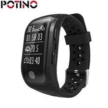 Potino S908 GPS SmartBand IP68 Водонепроницаемый смарт-браслет сердечного ритма Мониторы Шагомер Спорт умный Браслет для androis IOS