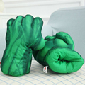 "1 pair 11"" 28cm Incredible Hulk & Spiderman Smash Hands Plush Punching Boxing Fist Gloves Superhero Plush Toys"