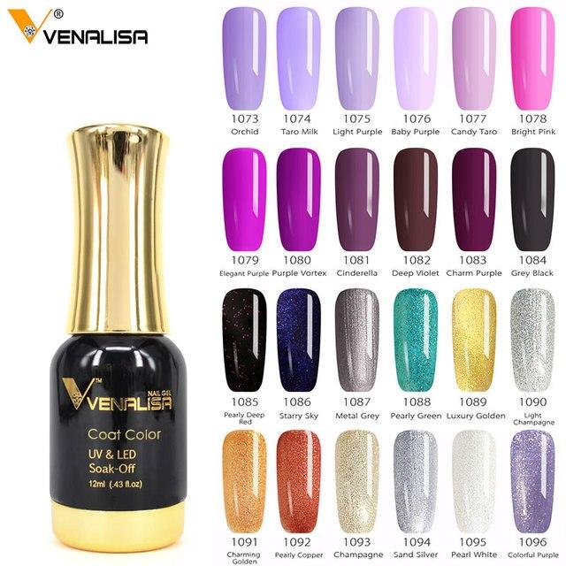 #60751 2019 Новая краска для ногтей Venalisa гель 12 мл 120 Цветной Гель-лак гель для ногтей УФ-лак для ногтей лаки для ногтей