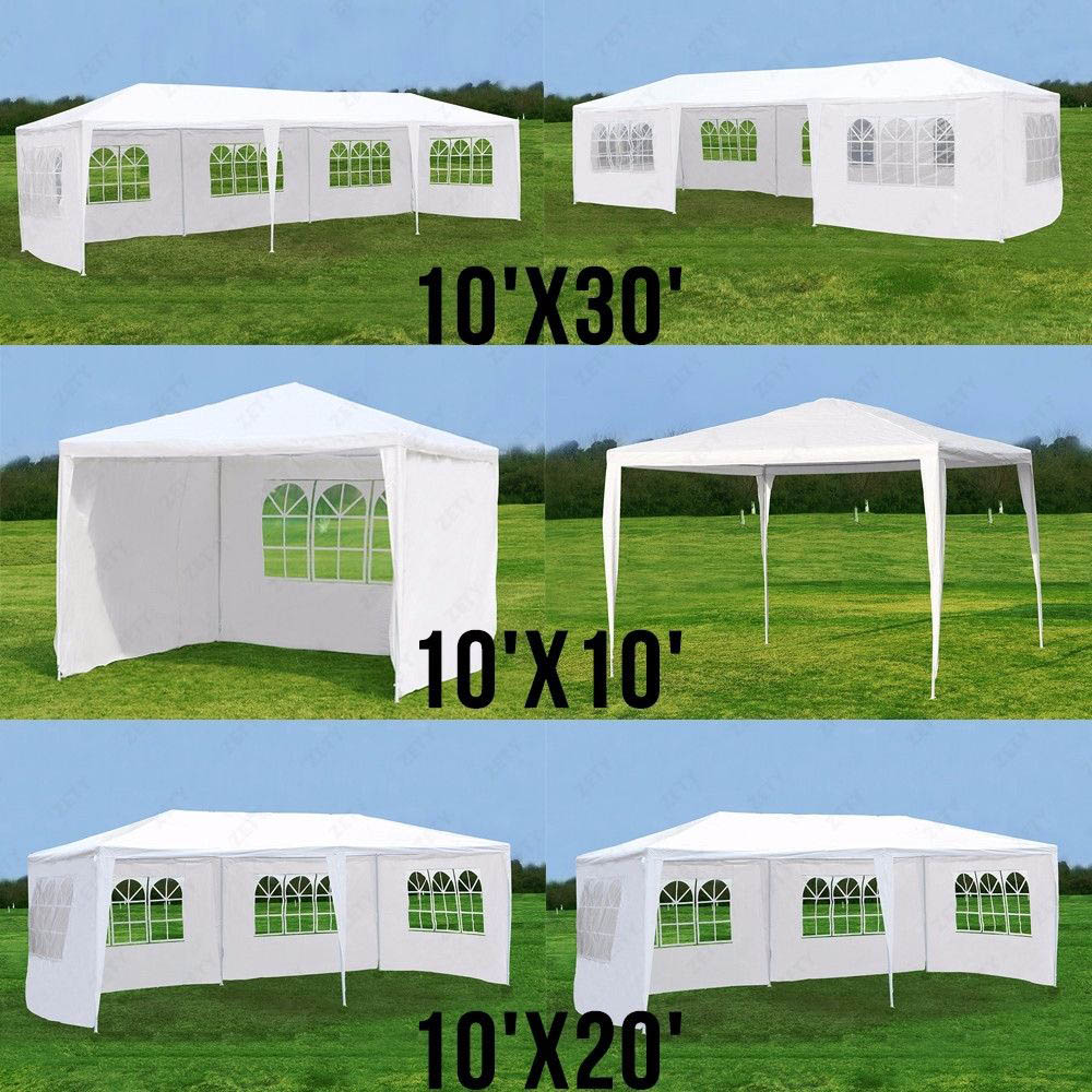 10'x10'/20'/30' Outdoor Marquee Tent Canopy Party Outdoor Patio Wedding Tent Heavy Duty Gazebo Pavilion Cater Events