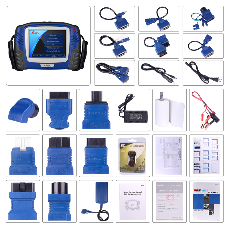 US $400 0 20% OFF|XTOOL PS2 Auto Car Key Programmer Code Reader Programming  GDS OBD2 Diagnostic Tool For Immobilizer Oil Reset ABS SRS Engine-in Code