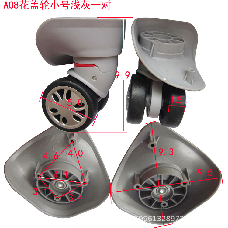 A08 A-08 double Wheels Replacement Luggage Repair Travel Luggage accessories Spinner wheel Replacement ,wheels for suitcases replacement luggage wheels oxford suitcase wheels repair replacement wheels for luggage pu leather suitcases wheels w198