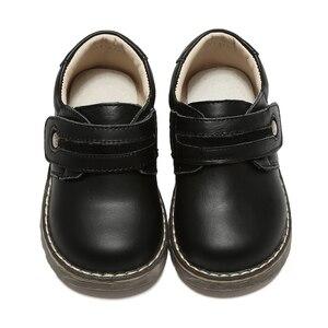 Image 4 - Sapatos meninos de escola estudante de couro genuíno sapatos pretos primavera outono zapato calçados para crianças chaussure menino calçados infantis