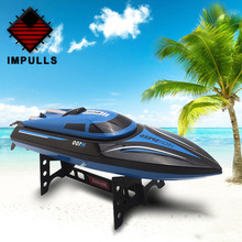 Impulls Rc Boat 2.4G 4 Channel Remote Control High Speed Model Boat With LCD Rc Boat Toys Children Christmas Gifts For Kids FSWB цена 2017