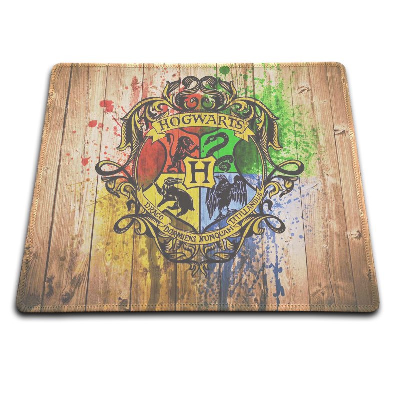 Fast Professional custom Harry Potter Hogwarts Logo Rectangle Non Slip Rubber MousePad Computer Mouse pad for