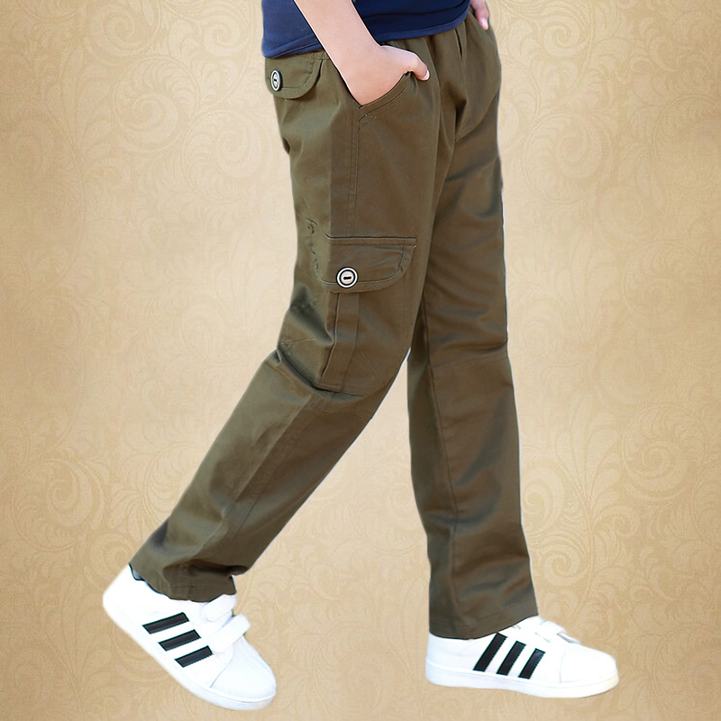 8 15 Year Boys 39 Casual Trousers 2019 New Trousers For Big Boys Cotton Trousers Children 39 s Overalls Spring Wear Kids Cargo Pants in Pants from Mother amp Kids