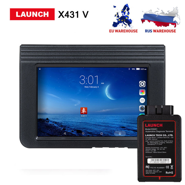 US $799 0 20% OFF|Launch X431 V 8inch Scanner Support Bluetooth/Wifi 2  years free Update online X 431 V Full system Diagnostic Tool DHL free-in  Engine