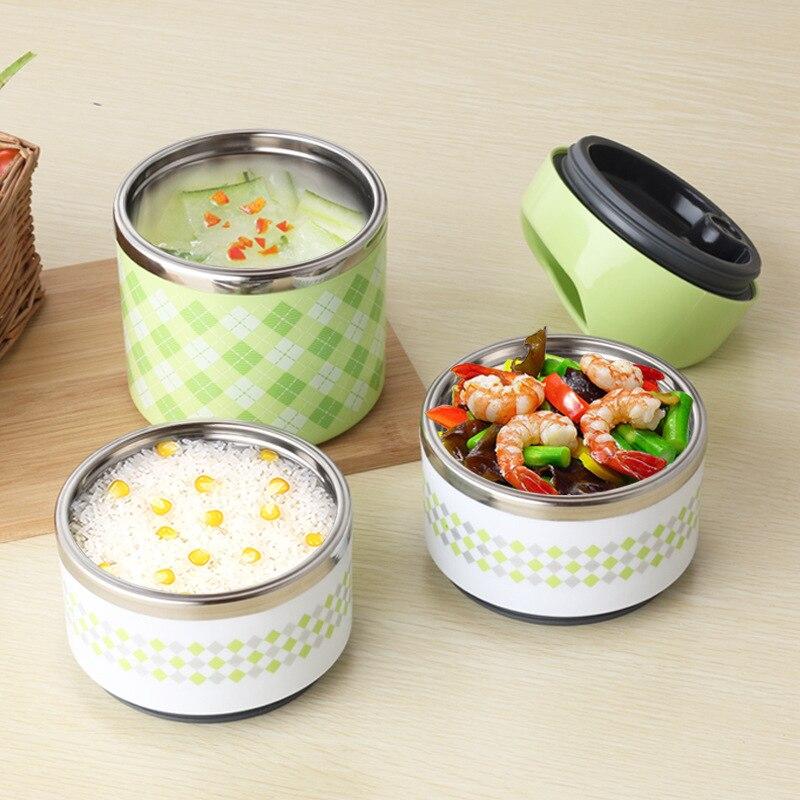 Boxs Almoço térmica Bento Box Portátil À Prova de Vazamento Piquenique Recipiente Para Armazenamento De Alimentos de Aço Inoxidável Para As Crianças D Lancheiras     - title=