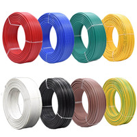 100m/lot BV0.5 mm square meters tinned anaerobic pure copper single strand hard wire BV 0.5mm PVC insulated wire AV 0.8 mm cable