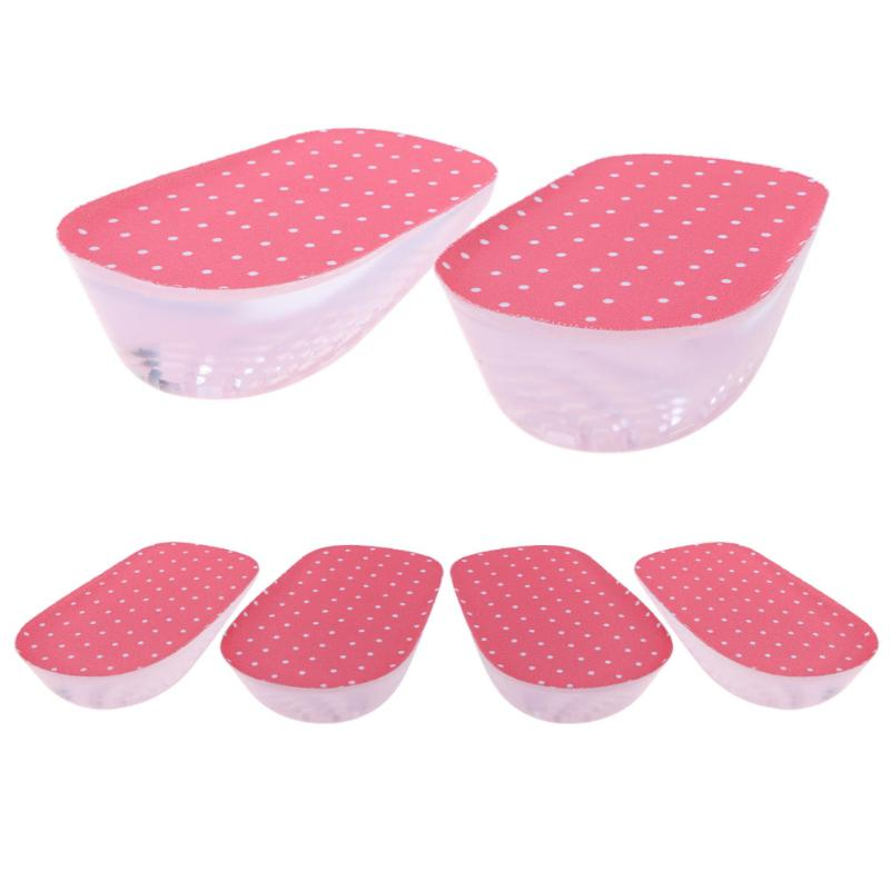 1 pair PU Gel Insoles Back Pad Heel Cup for Calcaneal Pain Health Feet Care Support spur ...