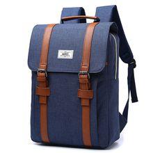 Vrući Retro Nylon Muški Ruksak Ženski College Škola Vreća Student Ruksak Casual Rucksacks Travel Bag Laptop Backpack Women Torbe