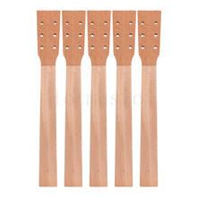 Acoustic Guitar Neck for Guitar Parts Replacement Luthier Repair Diy Unfinished Mahogany Head Veneer Pack of 5