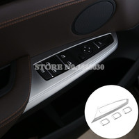 For BMW X4 F26 Inner Door Window Switch Button Cover Trim 2014 2017 4pcs