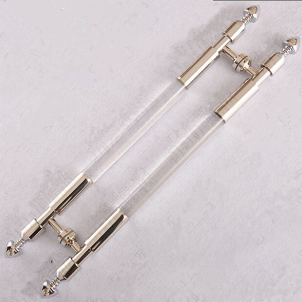 800mm high quality clear Acrylic glass big gate door handle Stainless steel big gate door handles pulls 600mm 550mm high quality clear crystal glass big gate door handles stainless steel big gate door handle pulls wooden door pulls