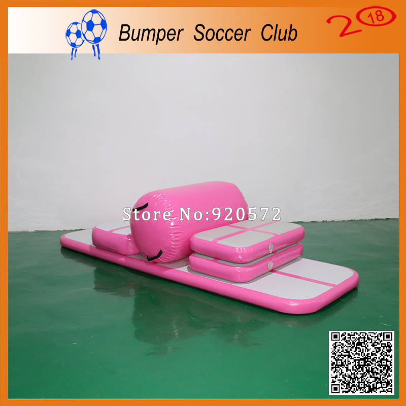 Free Shipping ! Free Pump ! 3m Long Pink Cheap Outdoor Gymnastics Mat Inflatable Air Floor Tumble Track Air Track free shipping 12 2m inflatable tumble track trampoline air track gymnastics inflatable air mat come with a pump