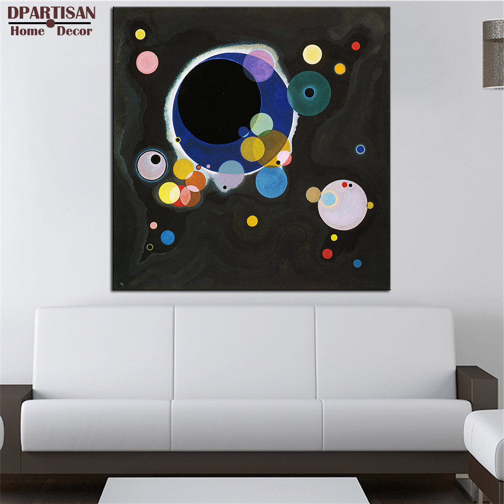DPARTISAN Wassily Kandinsky Several circles wall pictures Giclee wall Art Abstract Canvas Prints No frame wall painting posters