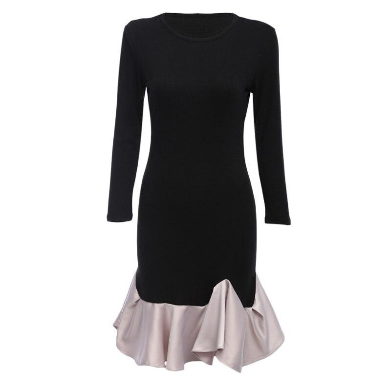 Elegant Sexy Vintage  Black Tunic Pinup Patchwork Work Office Dress 1