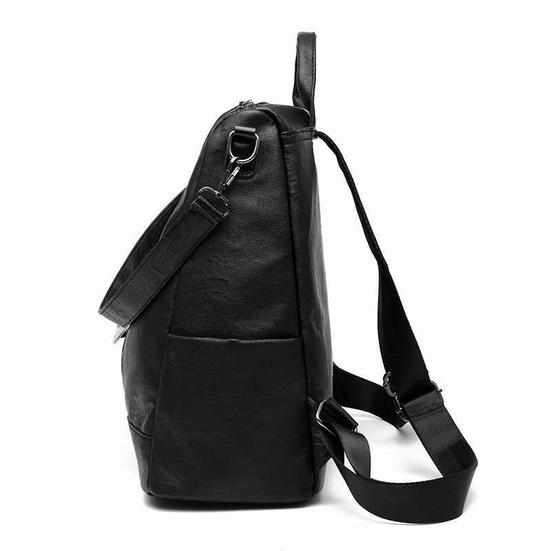 Retro Fashion Zipper Wanita Tas Ransel 2019 Panas Kulit Kualitas Tinggi Tas Sekolah Tas Bahu untuk Pemuda Tas Liontin Kartun Tas Buku