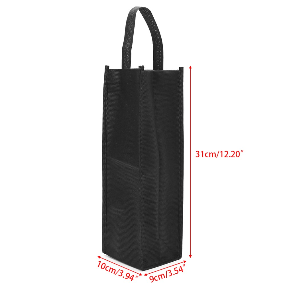 2019 Non Woven Fabric Red Wine Bottle Bags Gift Weddings Holiday Party Washable Bottles Cover Black From Honestar Ltd 1 61 Dhgate Com