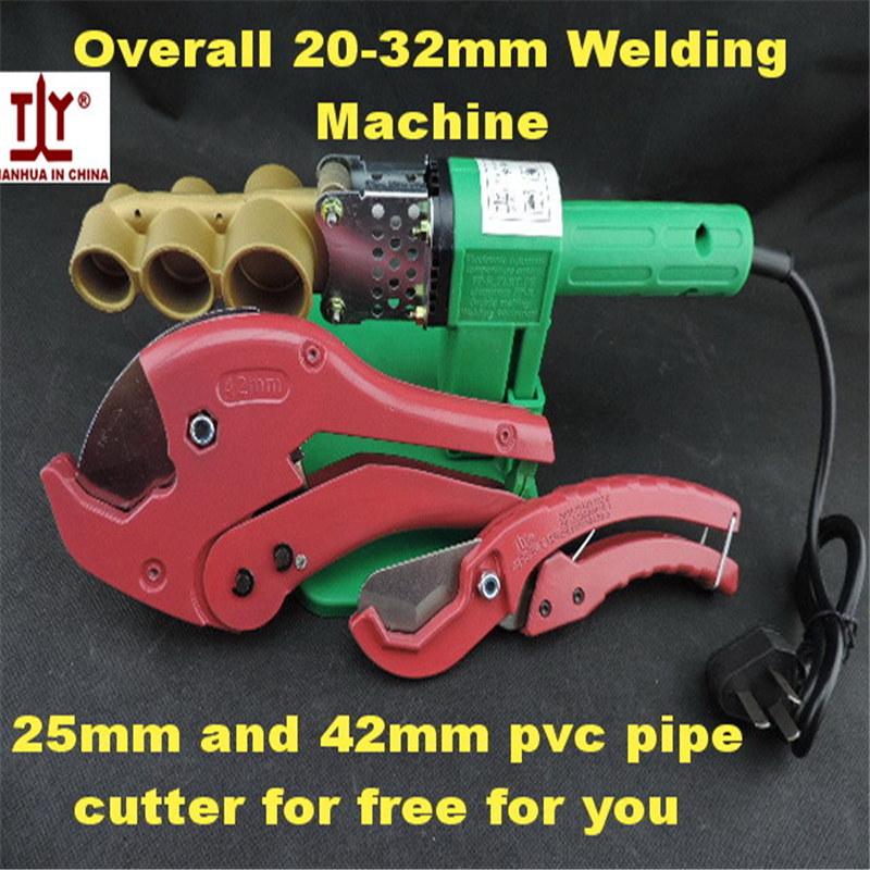 Free shippng Overall 32mm AC220V/110V 600W Plumber tool plastic pipe welding machine ppr pe pipe Tube Welders Automatic Heating 220v 600w pipe welding machine temperature controlled heating ppr pe pp tube pipe welding machine heads kits