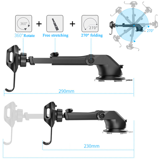 suporte celular carro Windshield Universal Car Phone Holder soporte auto Mobile Car Holder Cell Phone support smartphone voiture 3